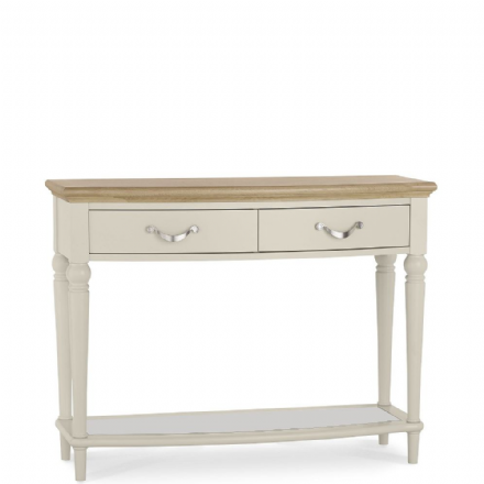 Montreux Oak and Antique White Console Table